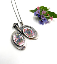 Load image into Gallery viewer, Lung Locket- Sterling Silver and Copper etched with Oprah quote