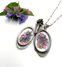 Load image into Gallery viewer, Lung Locket- Sterling Silver and Brass etched with Oprah quote