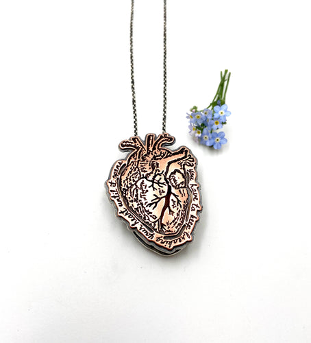 Anatomical Heart Handmade Locket
