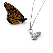 Load image into Gallery viewer, Tiny Sterling Silver Monarch Hinged Pendant #2