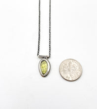 Load image into Gallery viewer, Sterling Silver Chrysalis with Faceted Peridot