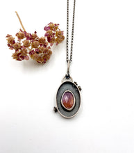 Load image into Gallery viewer, Sterling Silver and Sapphire Shadowbox Pendant