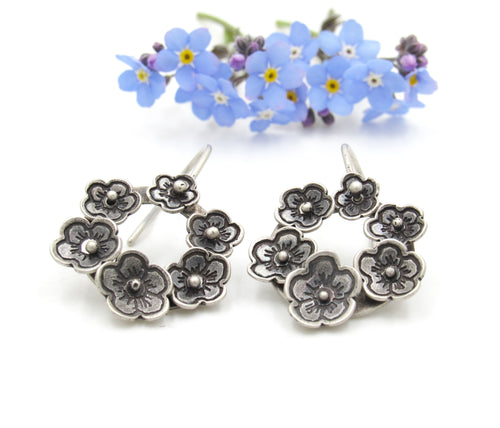 Forever in Bloom Sterling Silver Earrings