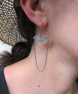 Sterling Monarch Butterfly Earrings