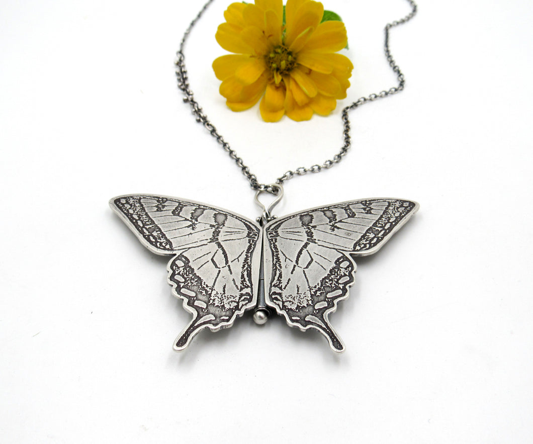 Sterling Silver Eastern Swallowtail Butterfly Locket