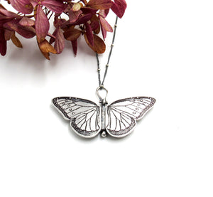 Sterling Silver Queen Butterfly Locket Danaus gilippus