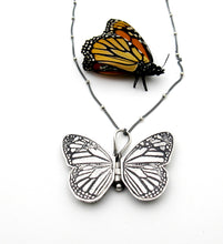 Load image into Gallery viewer, Sterling Silver Monarch Locket- Mini