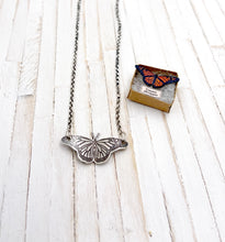 Load image into Gallery viewer, Tiny Stationary Monarch Butterfly Necklace