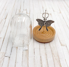 Load image into Gallery viewer, Bell Jar Cloche Display for Tiny Charms and Pendants