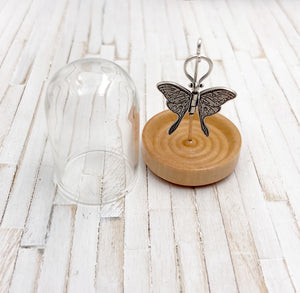 Bell Jar Cloche Display for Tiny Charms and Pendants