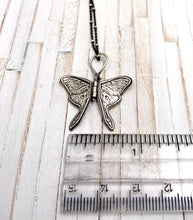 Load image into Gallery viewer, Tiny Sterling Silver Luna Moth Hinged Pendant