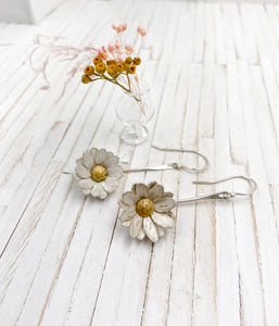 Sterling Silver Daisy Dangles