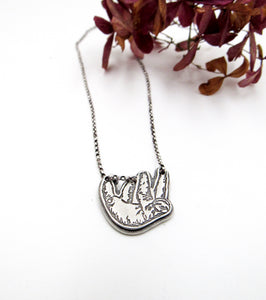 Chill Sloth Sterling Silver Pendant