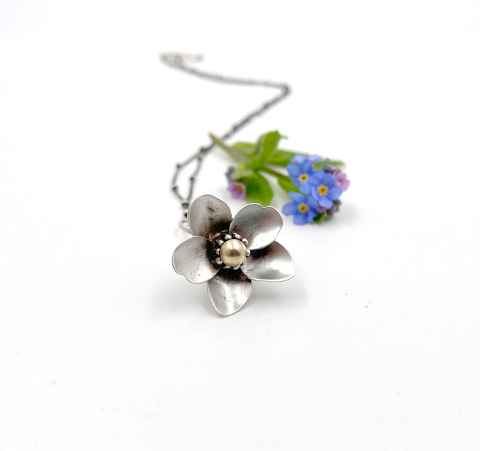 Sterling Kinetic Forget Me Not Pendant