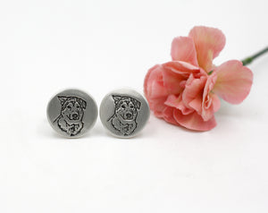 Your Pet's Portrait- Sterling Cufflinks