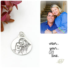 Load image into Gallery viewer, Sterling Silver Portrait Charm