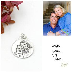 Sterling Silver Portrait Charm