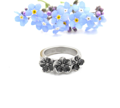 Forget Me Not Memorial Ring