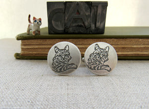 You Pet's Portrait- Sterling Cufflinks