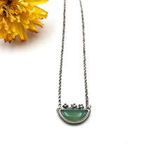 Load image into Gallery viewer, Sterling Silver and Chalcedony Flower Box Pendant