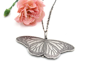 Sterling Silver Monarch Locket