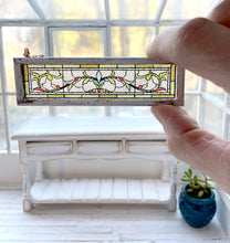 Load image into Gallery viewer, 1:12 Scale Faux Stained Glass Transom Window