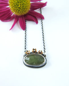 Moss Green Sapphire and Gold