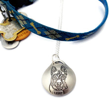 Load image into Gallery viewer, Personalized Pet Portrait Sterling Silver Reliquary