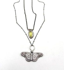 Sterling Silver Chrysalis with Faceted Peridot
