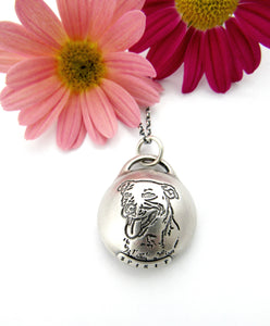 Personalized Pet Portrait Sterling Silver Reliquary
