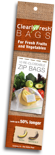 Clearly Fresh® <BR>Re-Closeable Zip Bags<BR>