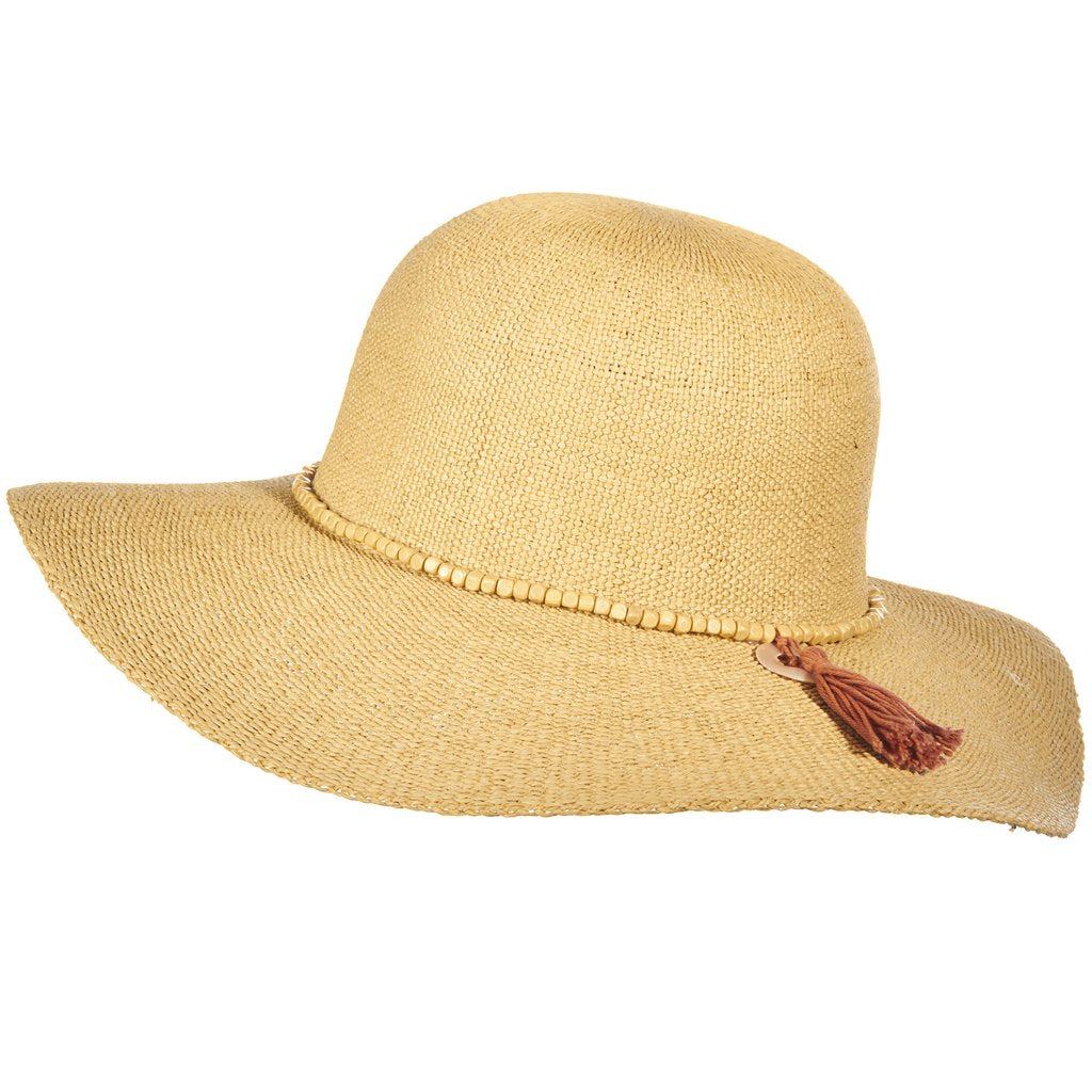 Wide-Brimmed Bangkok Toyo Hat with Beads