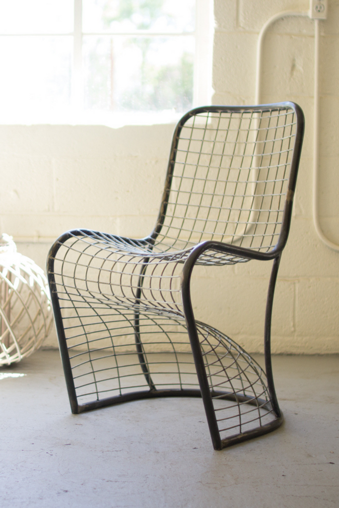 Collins Woven Metal Dining Chair