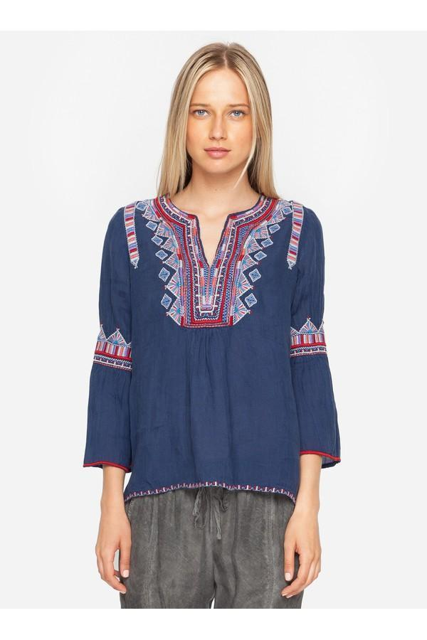 Willow Flare Sleeve Boho Blouse