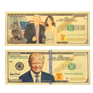 Donald Trump 24K Gold Plated Banknotes