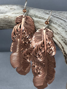 Copper Candy Feathers - Large