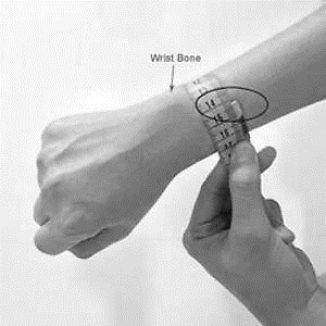 sizing wrist by meter