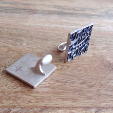 Load image into Gallery viewer, LAYLI, Set of Cufflinks and Bracelet, Sterling Silver and Natural Leather