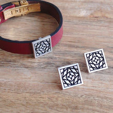 Load image into Gallery viewer, NEBULA STAR, Cuff Bracelet, Sterling Silver and Natural Leather