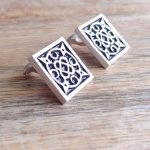 Load image into Gallery viewer, SWIRLING HEAVENS, Sterling Silver Cufflinks