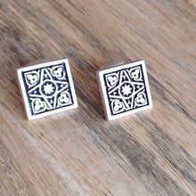Load image into Gallery viewer, FOUR GARDENS, Sterling Silver Cufflinks