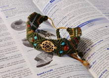 Load image into Gallery viewer, Micro Macrame Bracelet, Circle of Hearts
