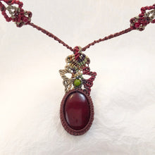 Load image into Gallery viewer, Blood Red Jasper Micro Macrame Necklace