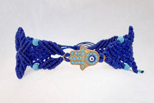 Load image into Gallery viewer, Hamsa Micro Macrame Bracelet