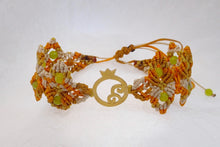 Load image into Gallery viewer, Pomegranate Micro Macrame Bracelet