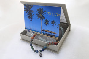 SUMMER BREEZE, Bracelet of Natural Stone Beads (Polished)