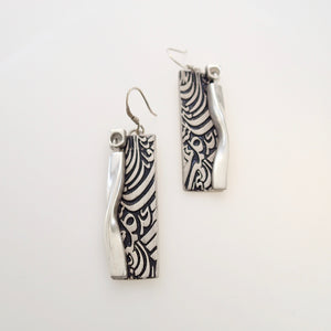 DANCING II, Pair of Earrings, Sterling Silver