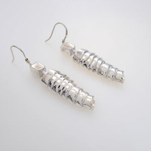 STANDING AWAIT, FOR A COMPENSATION OF MY LOVE, Pair of Earrings, Sterling Silver