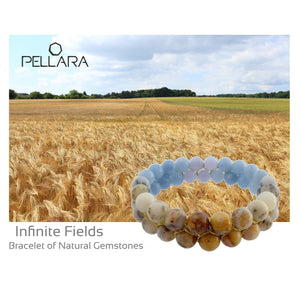 Gemstone bracelet by Pellara, Design name:  Infinite fields, made of opal & Agate crystals.