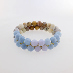 Gemstone bracelet Double loops Design by  Pellara